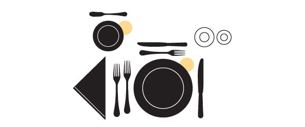 Table Setting Fundamentals Plates Scheme